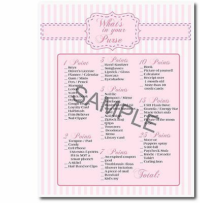 Pink Baby Girl Set Of 4 Printable Baby Shower Games Purse