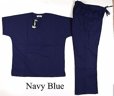 Women Medical Nursing Scrubs Sets: Navy Blue, Gray, Red, Teal, and more