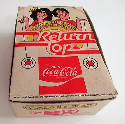 Full Box of 12 Russell Royale Galaxy 200 Coca-Cola Yo-Yos 1970s !