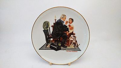 """Norman Rockwell The Country Doctor 1985 Rockwell Museum 6 3/8"""" Collector Plate"""
