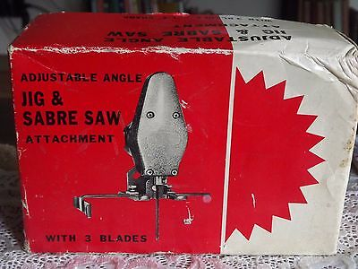 A Rare Vintage Saber Jig Saw Electric Drill Tool Attachment in Box