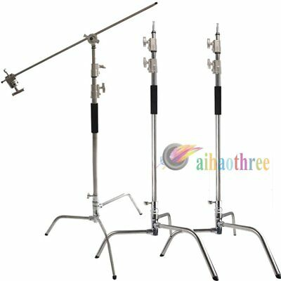 3Pcs Magic Heavy Duty Light Stand C Stand With Boom Arm Kit For Studio Light【AU】