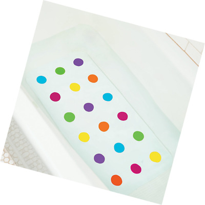 New Dots Bath Mat Non Slip Skid Resistant Colorful Flexible Kids Children Safe