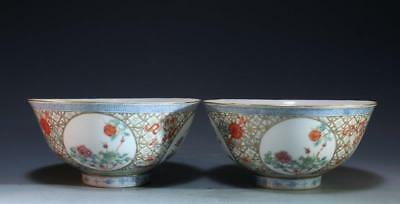 Pair of Chinese Enameled Porcelain Bowls,