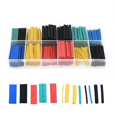 280Pcs Assortment Heat Shrink Tube Tubing 2:1 8Size Sleeving Wrap Wire Cable Kit