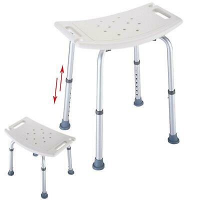 Elderly Adjustable Medical Bath Tub Shower Chair Bench Stool Seat 7Height