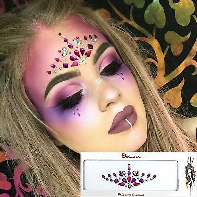 Pink Festival Face Gem Jewel Diamante One Piece Combination Bindi Fusion FUS02