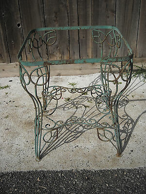 Antique Wrought Iron Patio Table Base / Planter Universal Stand Hand Made