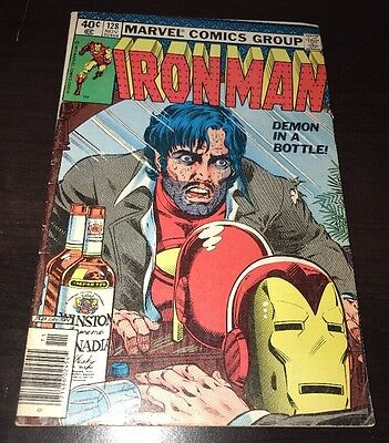 Iron Man #128 FN+ Demon in a Bottle Marvel Bronze Age KEY Comic Alcoholism Issue