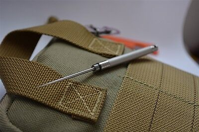 Titanium Tactical Toothpick tool knife spike Hunting Camping Military