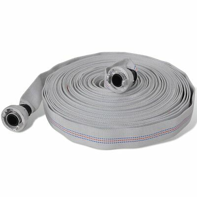 """New 20m Fire Hose Reel 1"""" Fighting Lay Flat Water Pump D Storz Fitting Canvas"""
