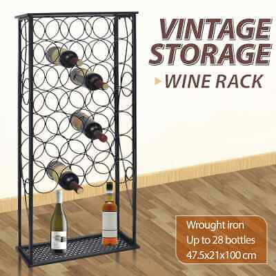vidaXL Wine Rack for 28 Bottles Metal Storage Cabinet Organiser Lockable