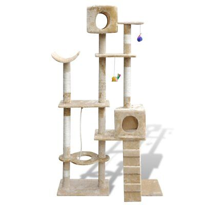 Cat Tree 175 Pet Scratcher Post Poles House Gym Condo Furniture Scratching Beige