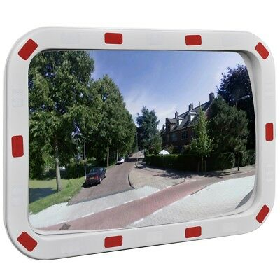 40x60cm Traffic Safety Mirror Outdoor Convex Security Plastic Wall Reflector