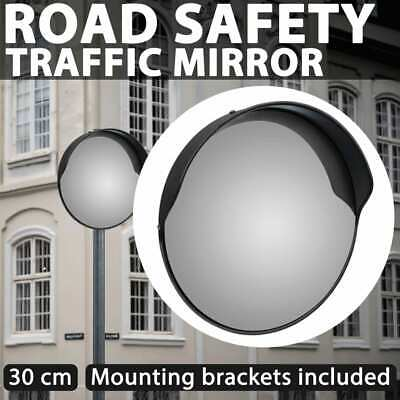 "30cm 12"" Traffic Safety Outdoor Mirror Convex Security Wall Pole Dome Plastic"