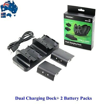 Dual Charging Dock+ 2 Battery Packs For XBOX One/S Slim Wireless Controller