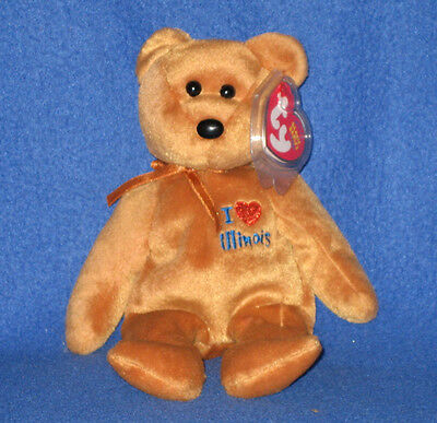 cad7277725f TY I LOVE ILLINOIS BEANIE BABY - STATE EXCLUSIVE - MINT with MINT TAGS