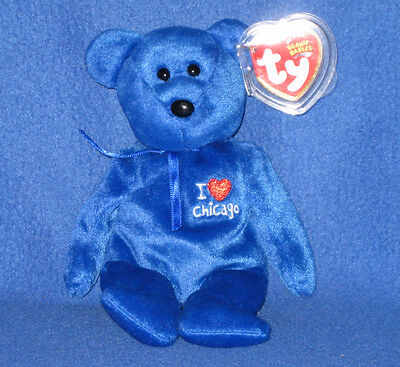 TY I LOVE CHICAGO BEANIE BABY - STATE EXCLUSIVE - MINT with MINT TAG