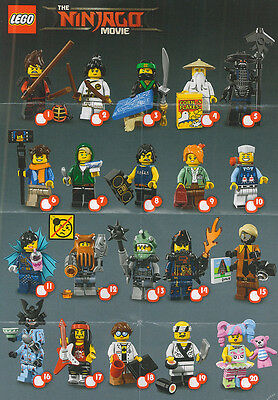 Lego Ninjago Movie Minifigures -Choose your RE SEALED Series 18 CMF Figure 71019
