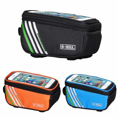 Cycling Frame Pannier Front Tube Bag For Cell Phone Bicycle Bike Touch Screen AU