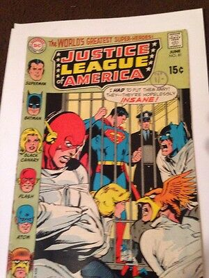 Justice League June 1970. Issue 81