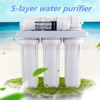 House 5 Stage Reverse Osmosis Water Filter RO Membrane Purifier Fittings Filters
