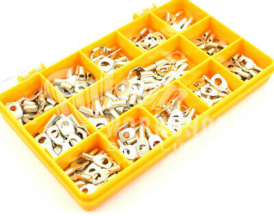 155 ASSORTED 1.5mm² 2.5mm² 4mm² COPPER TUBE RING LUGS ELECTRICAL CONNECTOR KIT