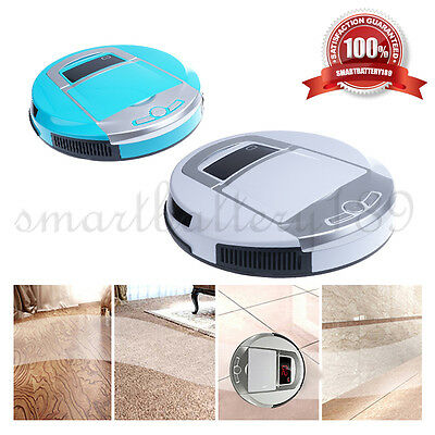 Intelligent Robot Vacuum Cleaner Heavy Duty Floor Dust LED Sensor Brushless AU