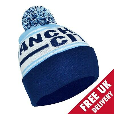 Manchester City Bobble Hat One Size Gift Souvenir