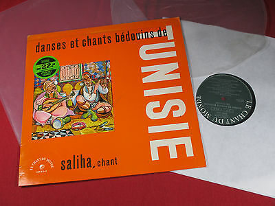 Saliha  DANSES ET CHANTS BEDOUINS DE TUNISIE - LP Le Chant du Monde sehr gut