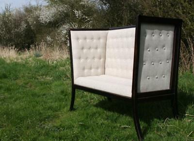 Edwardian Arts & Crafts Small Settee Sofa Settle Chair -style of George Walton
