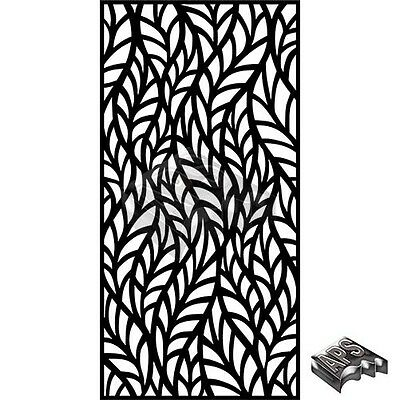 """LEAF"" Decorative Laser Cut Garden Screen Panel 1195 x 2390 1.6mm Mild Steel"