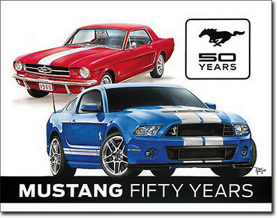 Ford Mustang 50 Year Years Shield Poster US-CAR Car Ad Muscle Car 157