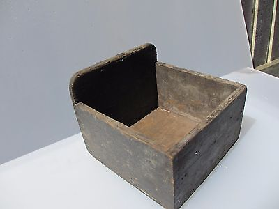 Vintage Wooden Storage Pot Tub Air Ministry A.M Desk Tidy Crate Tray 1940'S