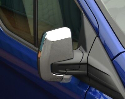 Chrome Wing Mirror Trim Set Covers To Fit Ford Transit Custom (2012+)