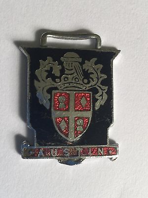 Original Vintage - AUSTIN Coat of Arms - 1960s Enamel Metal Tag/ Key Fob