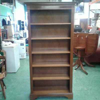 Yew tall bookcase