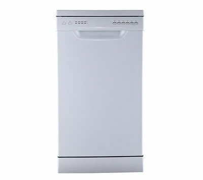 Slimline Dishwasher 9 place settings LED Indicators Energy Rating A++  White