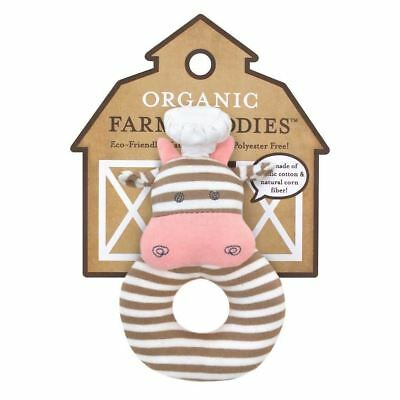 Baby Rattle Toy by Apple Park Organic Safe Toys Cotton New Gift Baby Shower