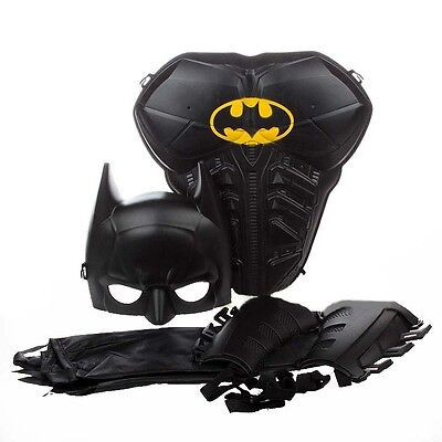 Children Kids Boy Batman Costumes Cosplay Superhero Armor Mask Cloak Props