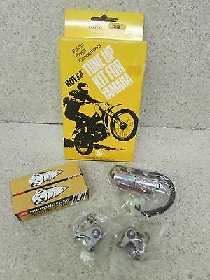 Nos 73-74 Yamaha Tx500 75-78 Xs500 500 Hot U Tune Up Kit Points Condenser Plugs