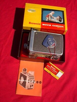Vintage Kodak Brownie Movie 8Mm Camera With Original Box - Works