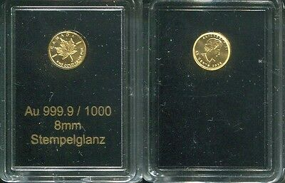 CANADA 2014 - 50 Cents in 999 Gold (0,5g), stgl. - MAPLE LEAF Ahorn