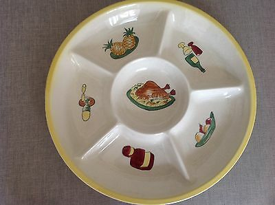 Vintage / Retro Shorter and sons hand painted serving dish decorated with fruit