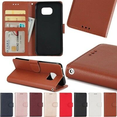 Luxury Leather Wallet Card Slim Case Magnetic Flip Cover For Various Phone
