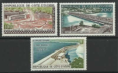 IVORY COAST. 1959. Pictorial Air Set. SG: 183/85. Mint Very Lightly Hinged