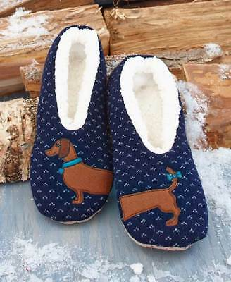 The Lakeside Collection Cozy & Cute Sherpa Lined Dog Slippers -