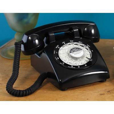 Black Classic 1970s Rotary Dial Telephone by Steepletone
