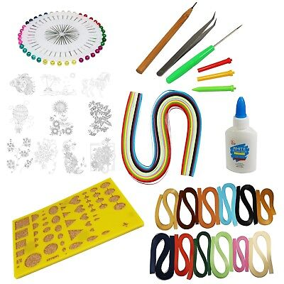 Quilling Paper Complete Arts & Crafts Kit - 13 Colours of Paper/Tools/Templates