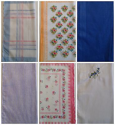 New Ladies 6 Value Multi-Pack Poly Cotton Mix Hankies Assorted Handkerchiefs